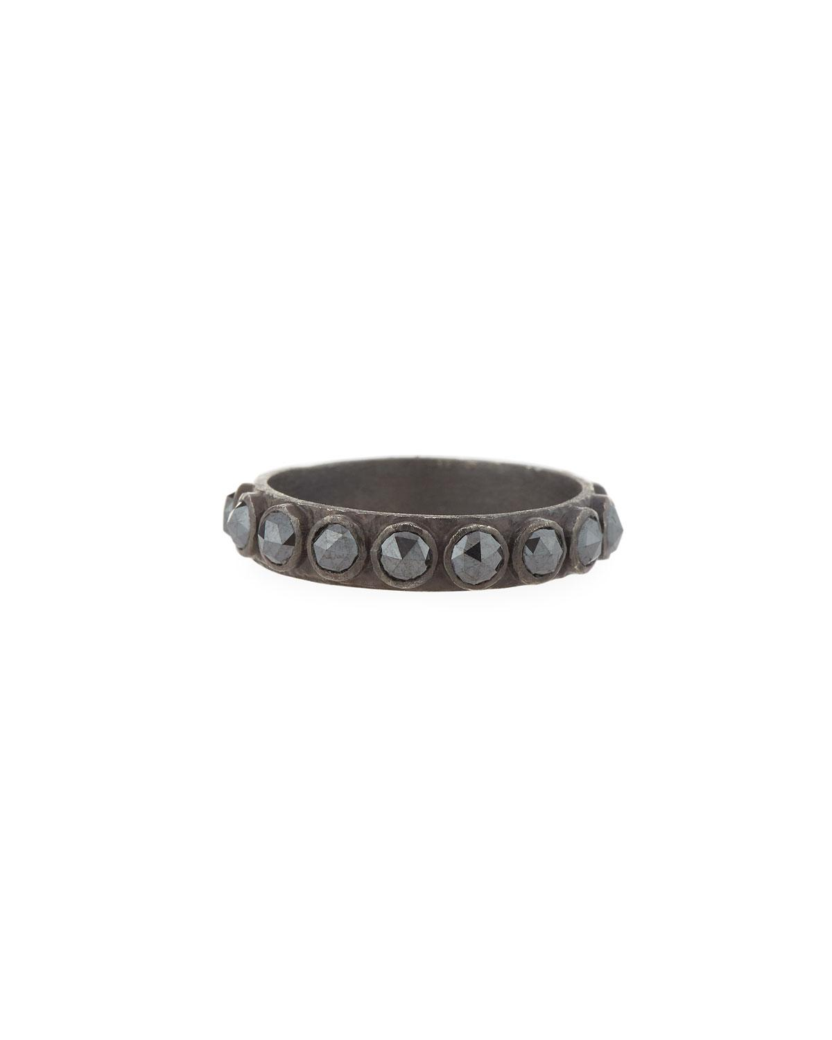 Armenta New World Scalloped Ring with Black Sapphires QlGGSXtw