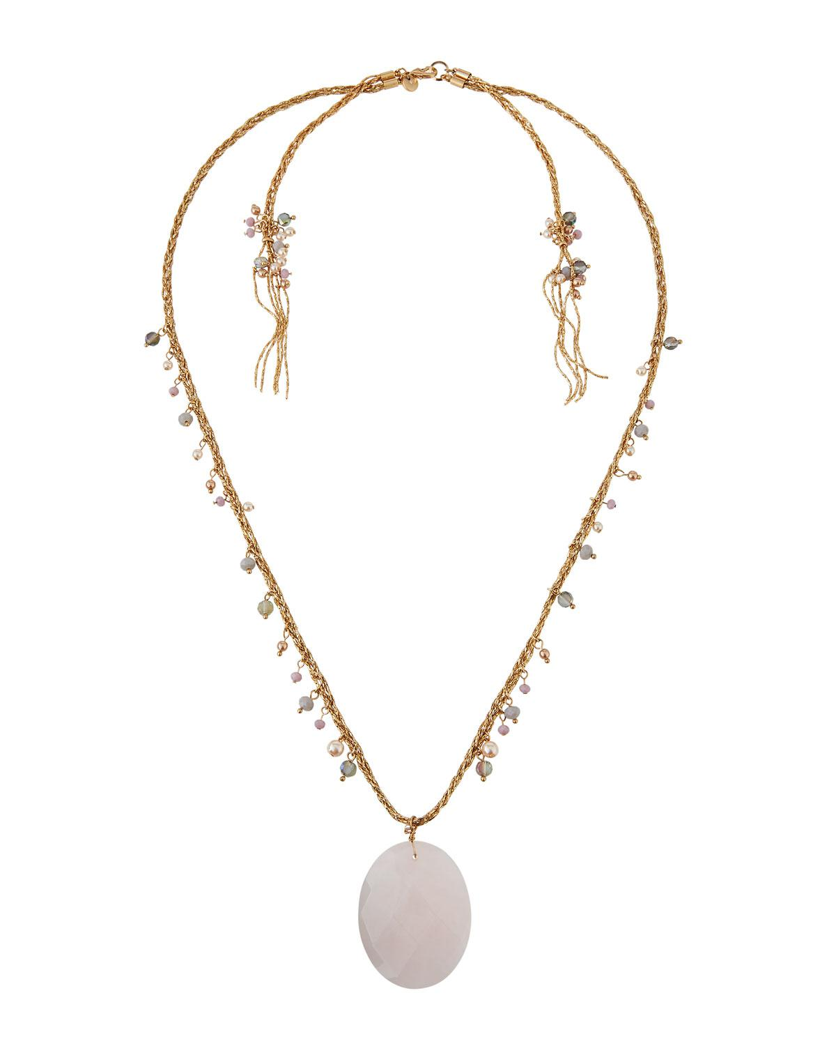 Lydell Nyc Short Pearly Necklace w/ Crystals