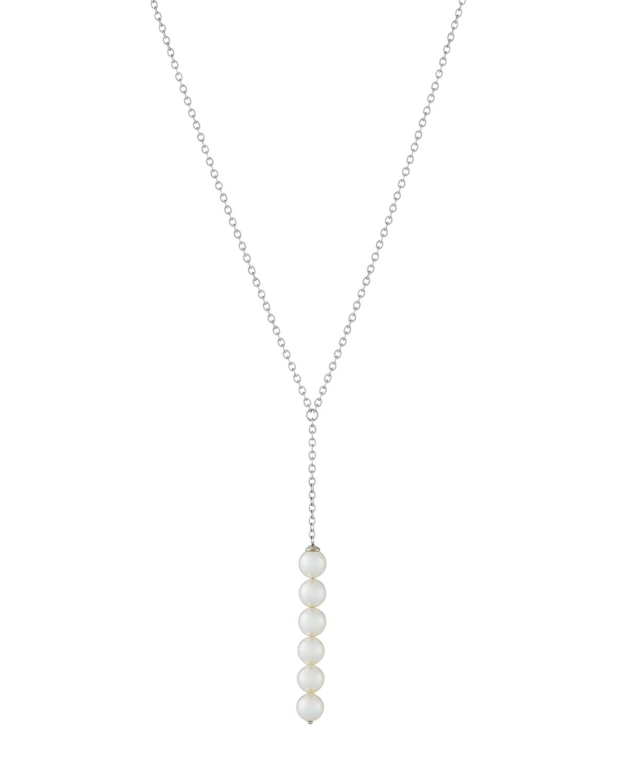 Majorica Yellow Golden Y-Drop Six-Pearl Pendant Necklace b5IJFX