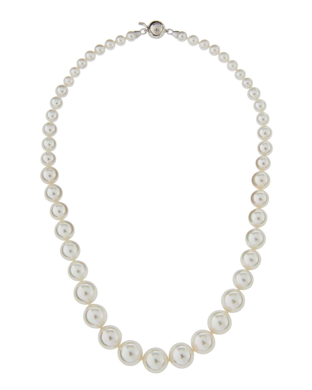 Majorica Multi-Pearl Station Necklace, White