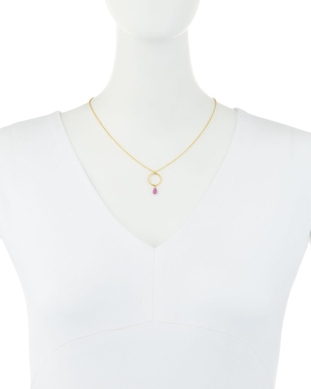 Gurhan Captiva Open Pendant Necklace w/ Ruby Drop 6CqAGo