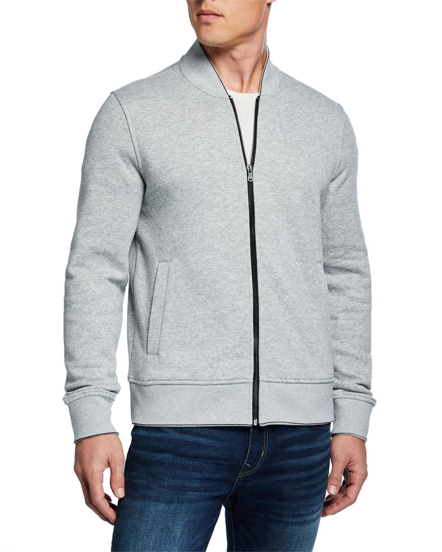 5b72fd61319b Lyst - Michael Kors Men s Bomber Jacket With Exposed Zip in Gray for Men