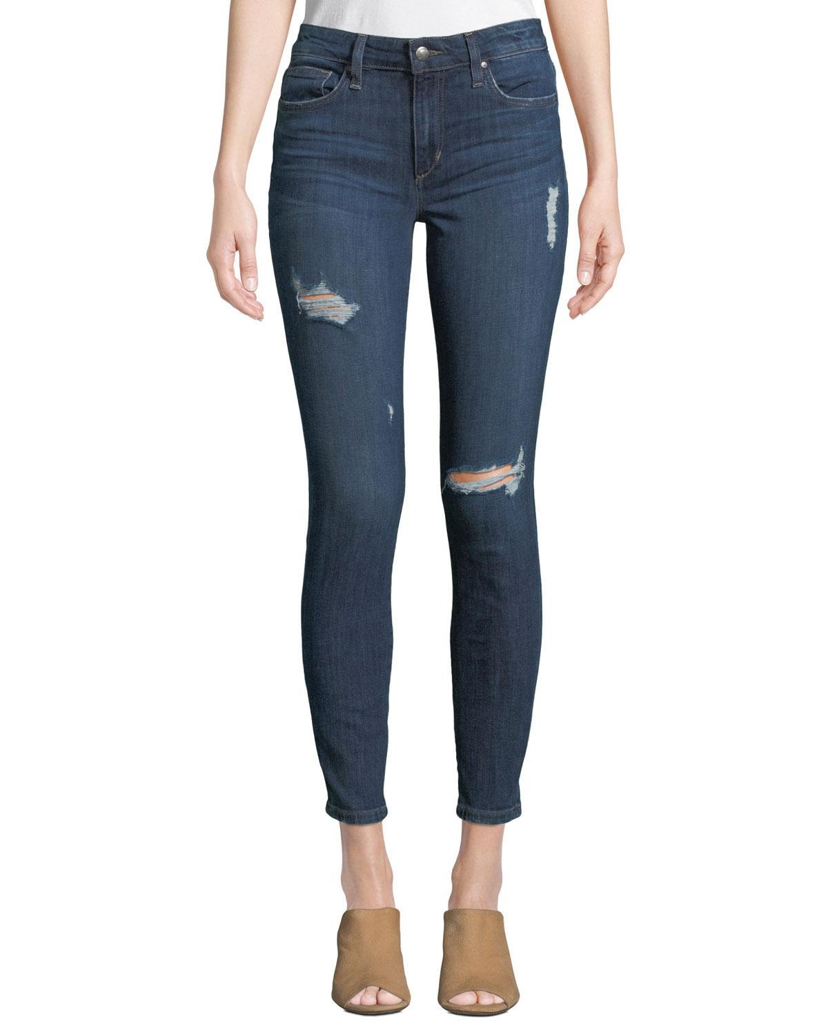 f31b0bf16d09f Lyst - Joe's Jeans Icon Distressed Ankle Skinny Jeans in Blue