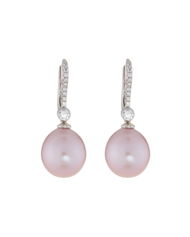 Belpearl 18k Kasumiga Pearl & Pave Diamond Drop Earrings gQfNGdw