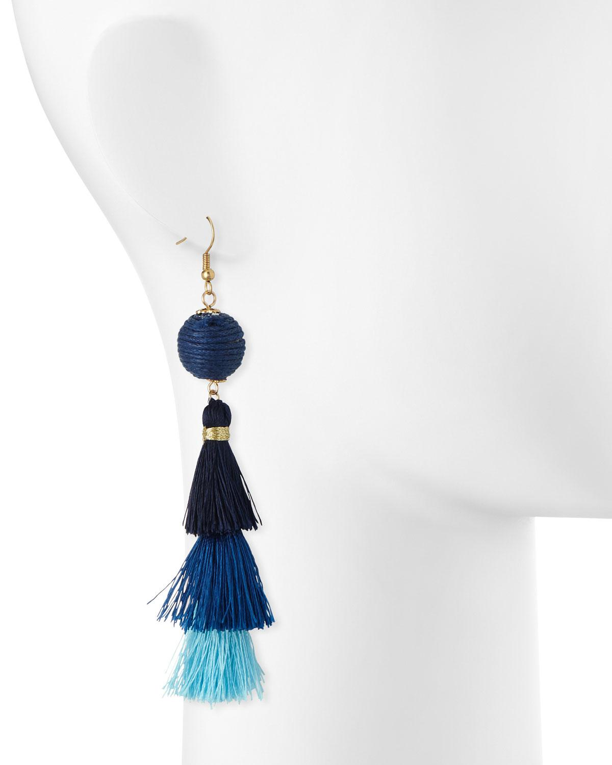Panacea Stone & Layered Tassel Earrings 8LAFiMAGW