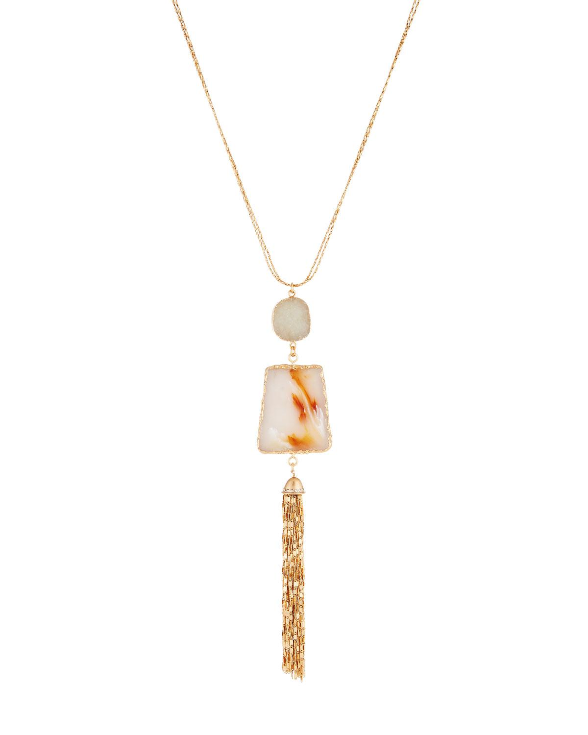 Lydell Nyc Tiered Tassel Y-Drop Necklace E4OQYUJeVT