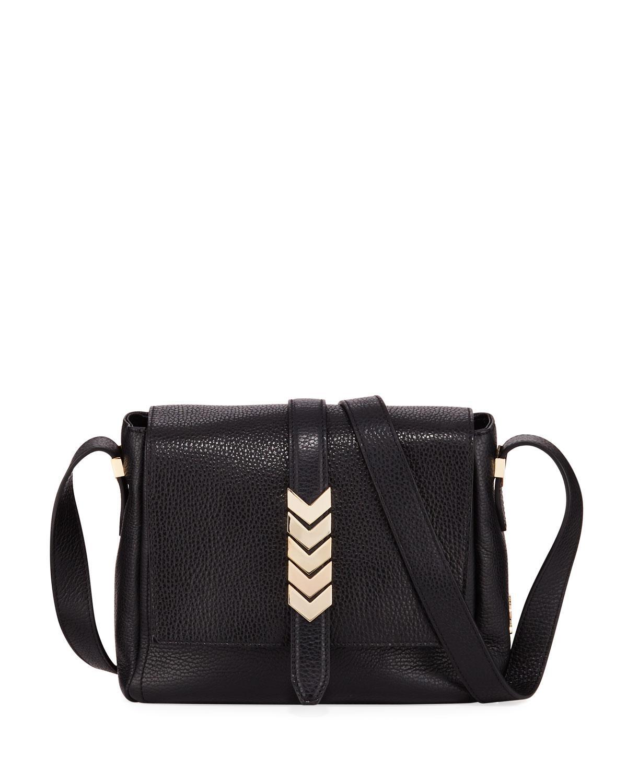 Lyst - Versace Pebbled Leather Shoulder Bag Black in Black dff3735de4812