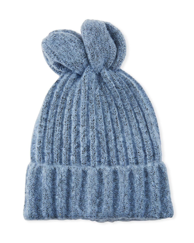 21a21d8c6d7 Lyst - Bcbgmaxazria Bunny Ears Beanie in Blue