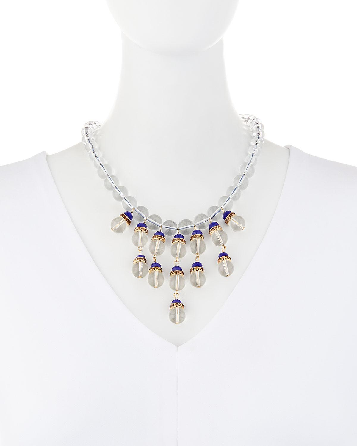 Fragments Montana Clear & Pavé Statement Necklace 82sN4pw6S