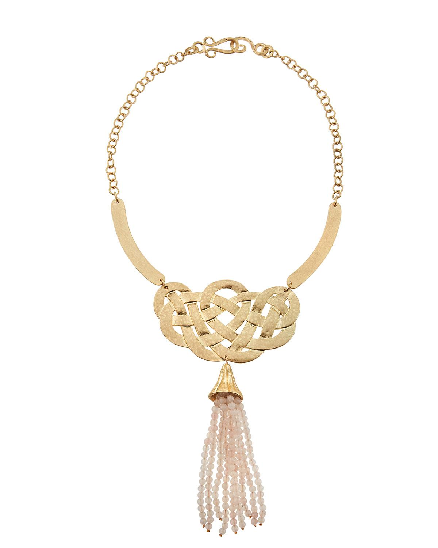 Stephanie Kantis Alliance Rose Quartz Tassel Necklace UyET6sZLG
