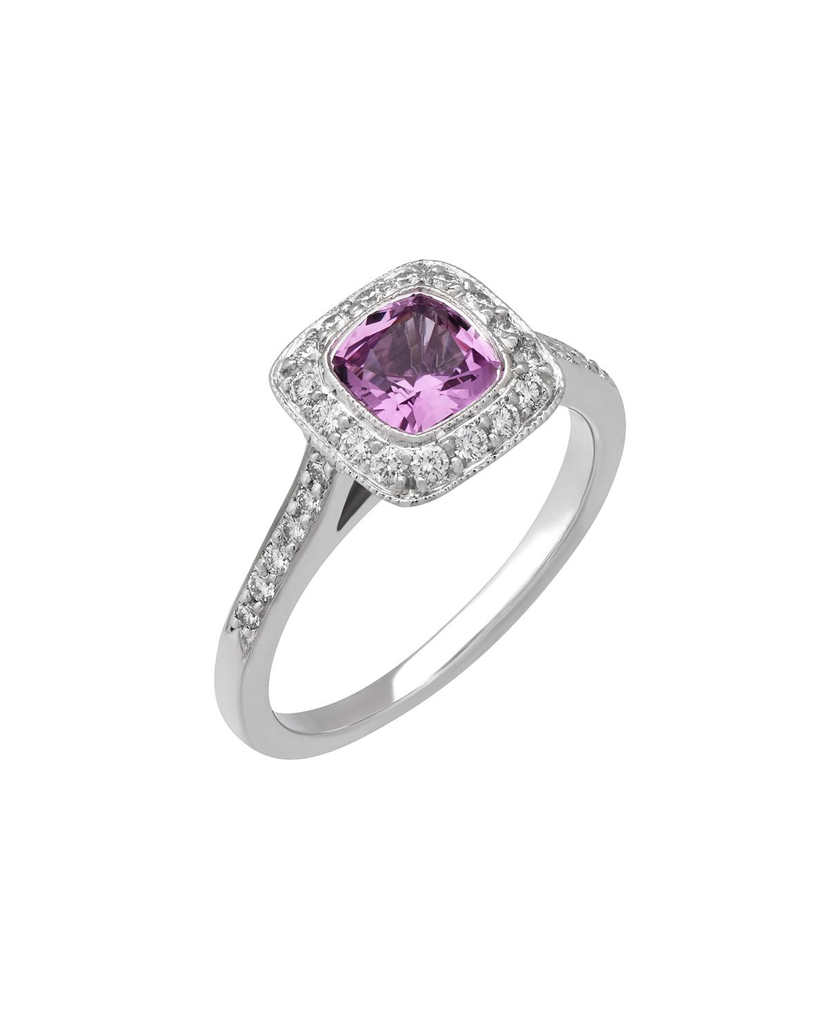 b24a7e8e1254 Lyst - Tiffany   Co. Legacy® Platinum Pink Sapphire   Diamond Ring ...