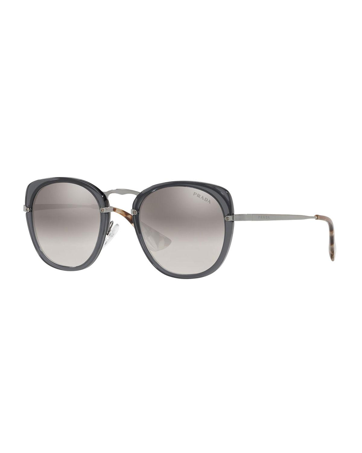 cbe4e5a081 Prada - Gray Mirrored Metal Butterfly Sunglasses - Lyst. View fullscreen