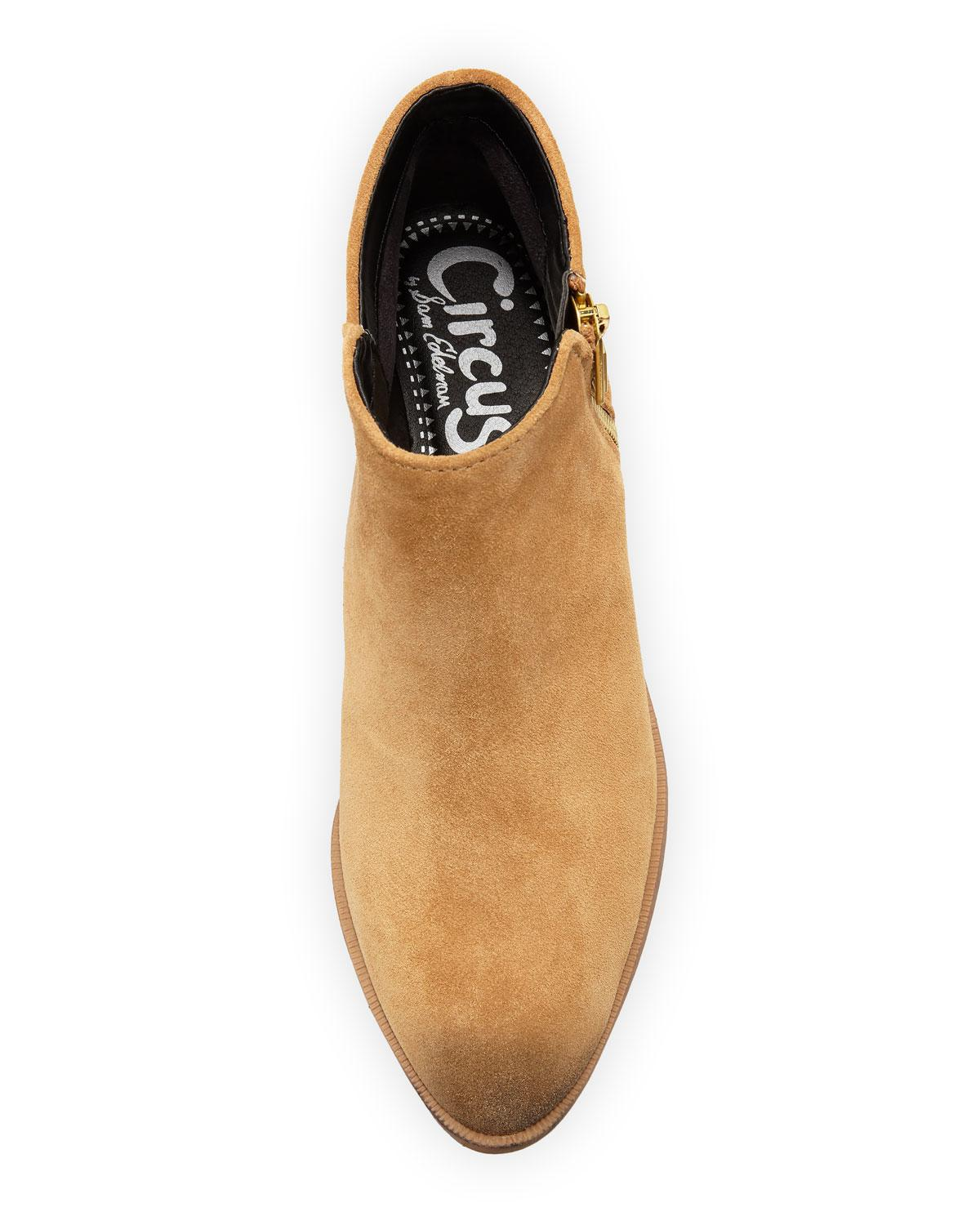 c70a86a8f Lyst - Circus by Sam Edelman Holt Velour Suede Spike Bootie in Natural
