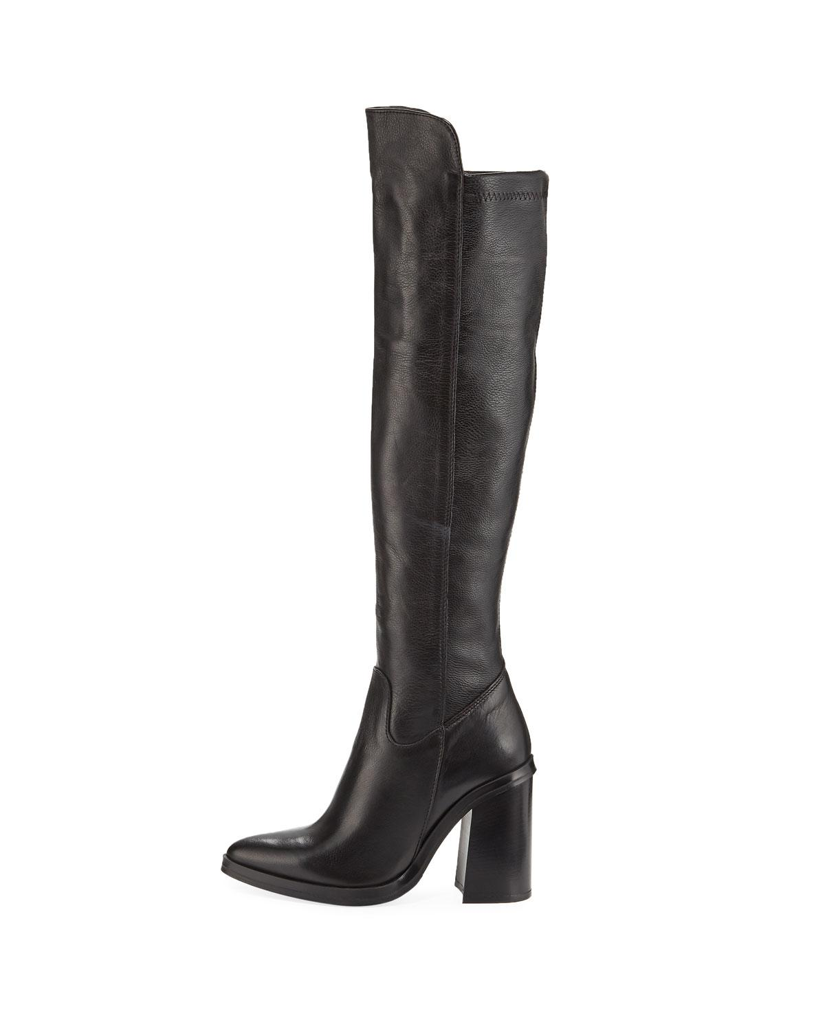ce47b7d657 Charles David Shania Tall Leather Point-toe Boots in Black - Lyst