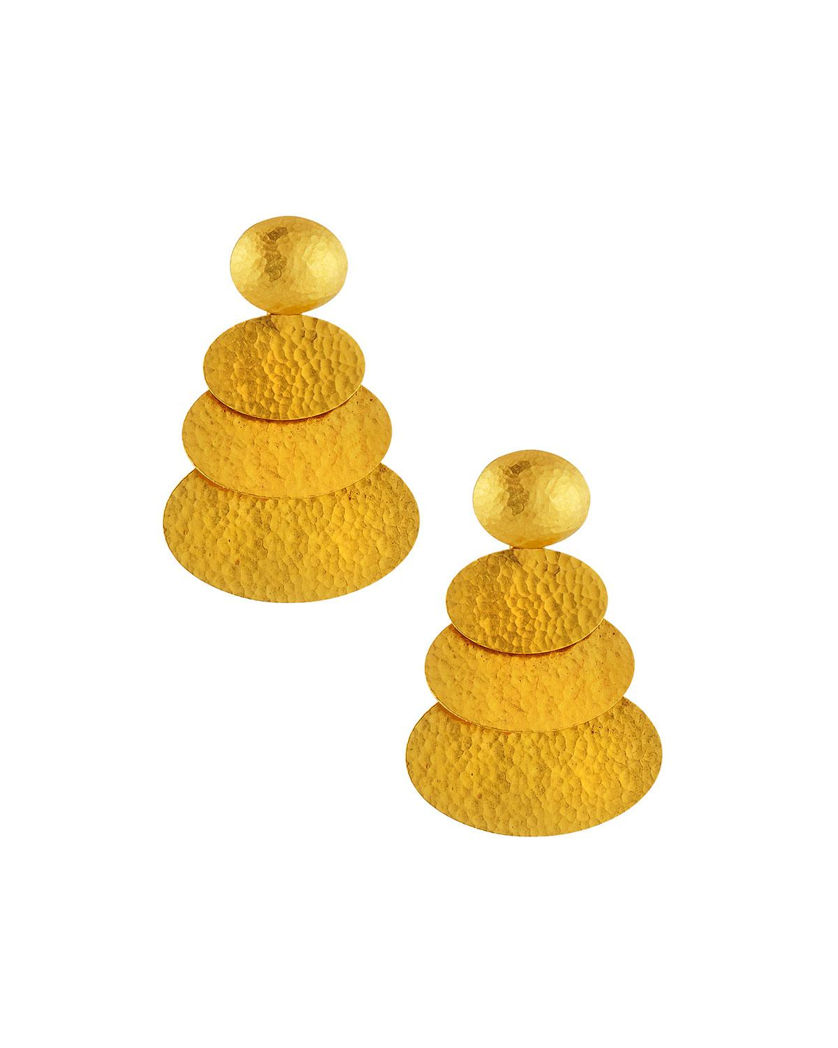 Gurhan 24k Medium Layered Mango Drop Earrings P5Hb3