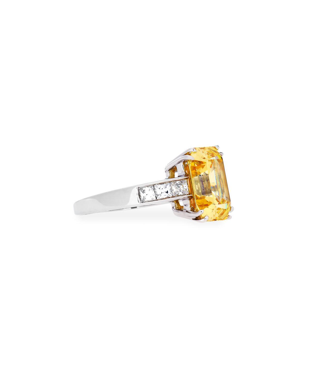 Fantasia Emerald-Cut Canary CZ Crystal Ring kaiDUBfr1u