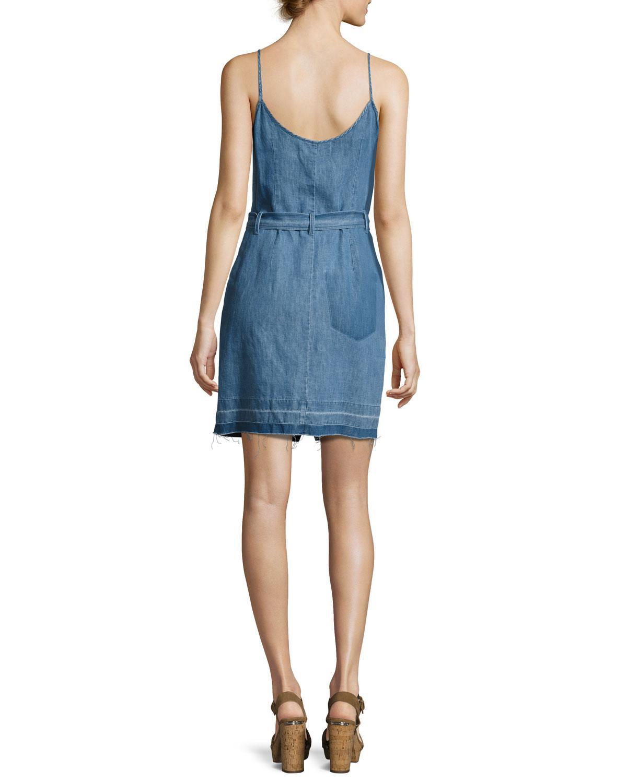 Womens Carmela Cotton-Linen Chambray Minidress J Brand VvG5Iv18A
