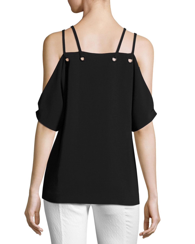 528c0cae4782d7 Lyst - Ramy Brook Justine Cold-shoulder Top in Black