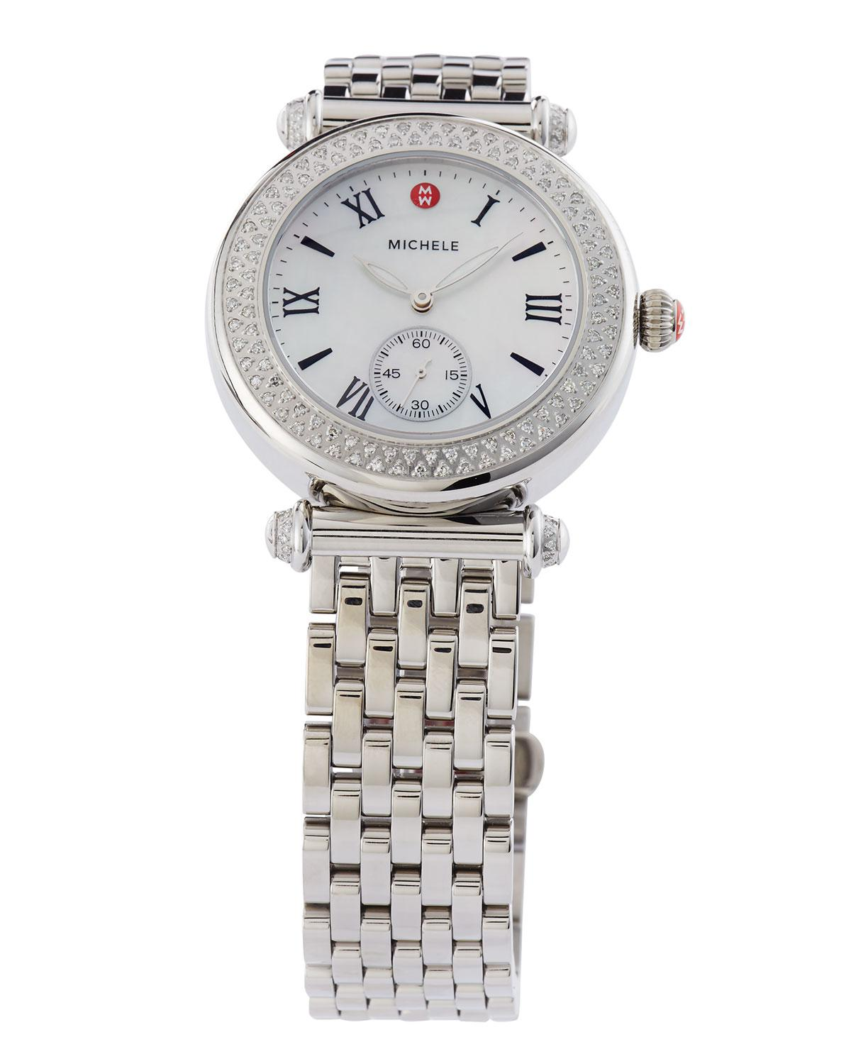 155152ac5 Michele 37mm Caber Bracelet Watch W/ Diamonds in Metallic - Lyst