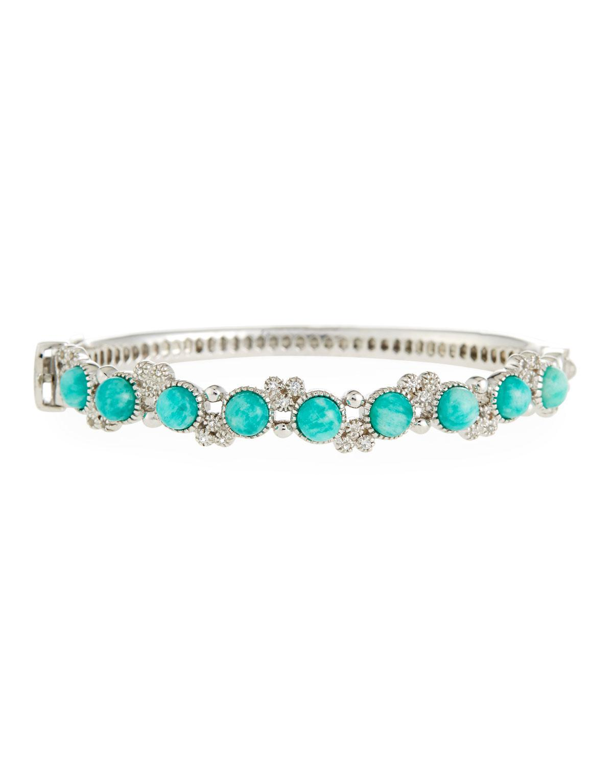Jude Frances Cushion Turquoise & Diamond Cuff XejSWNErb