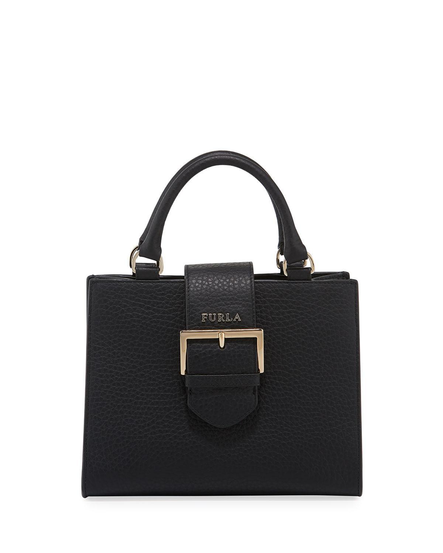 c759df821b77 Furla - Black Flo Small Leather Tote Bag - Lyst. View fullscreen