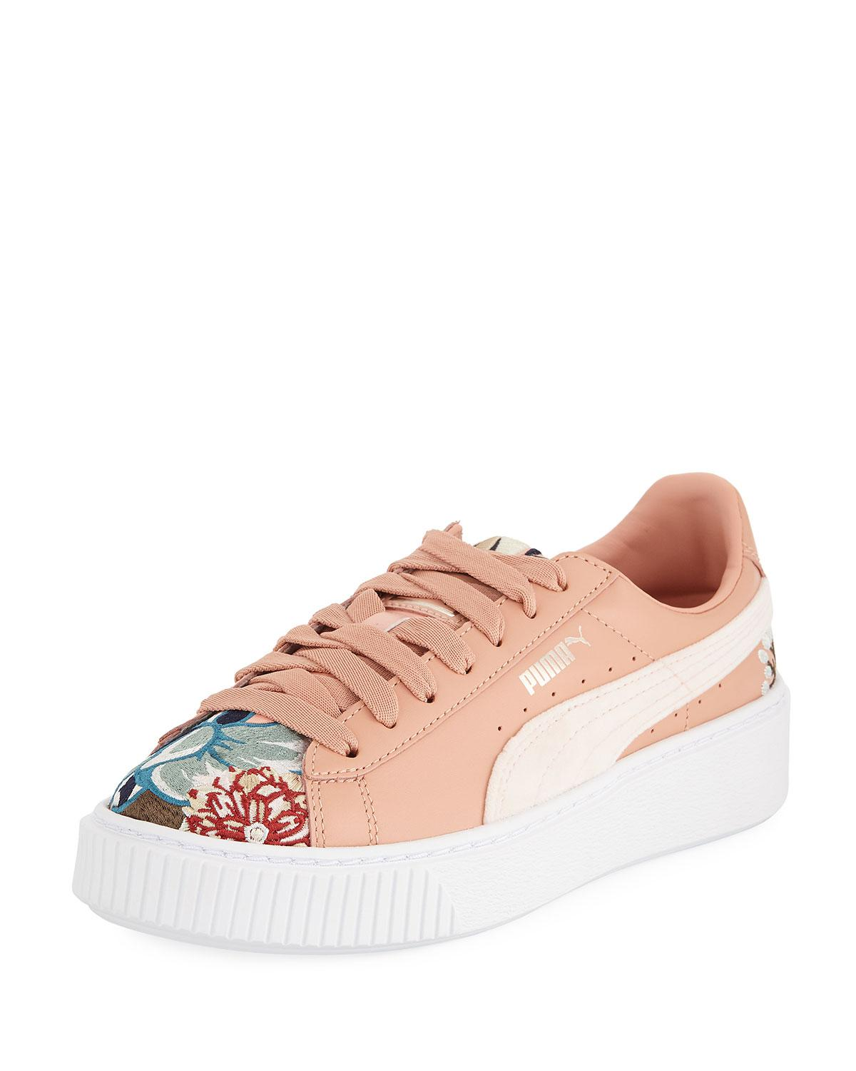 eacf116b467 Lyst - PUMA Hyper Embroidered Platform Sneakers in Natural
