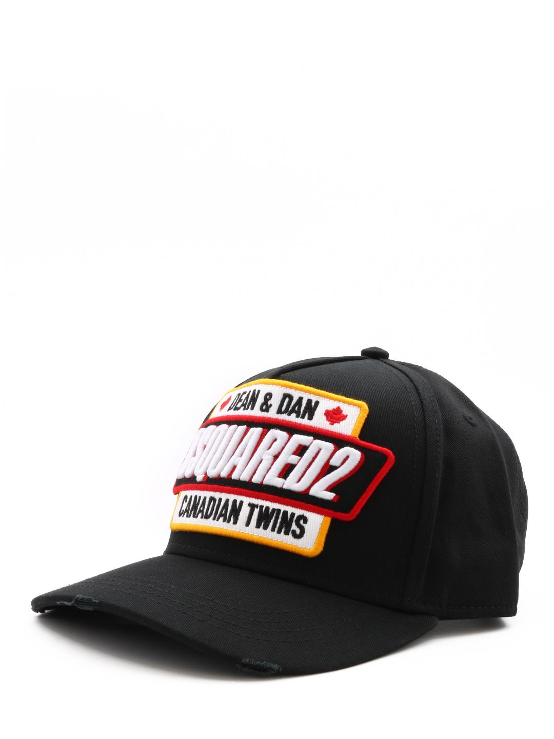 8a426ea2b78e7 Lyst - DSquared² Canadian Twins Hat Black in Black for Men