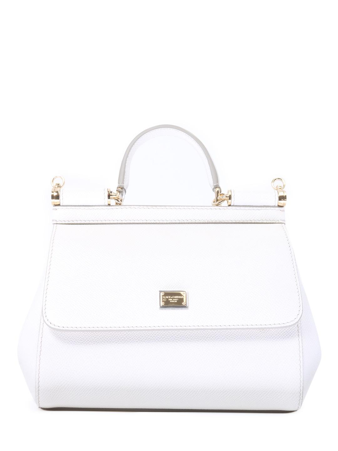 a0c966f367 Lyst - Dolce   Gabbana Sicily Small Bag White in White