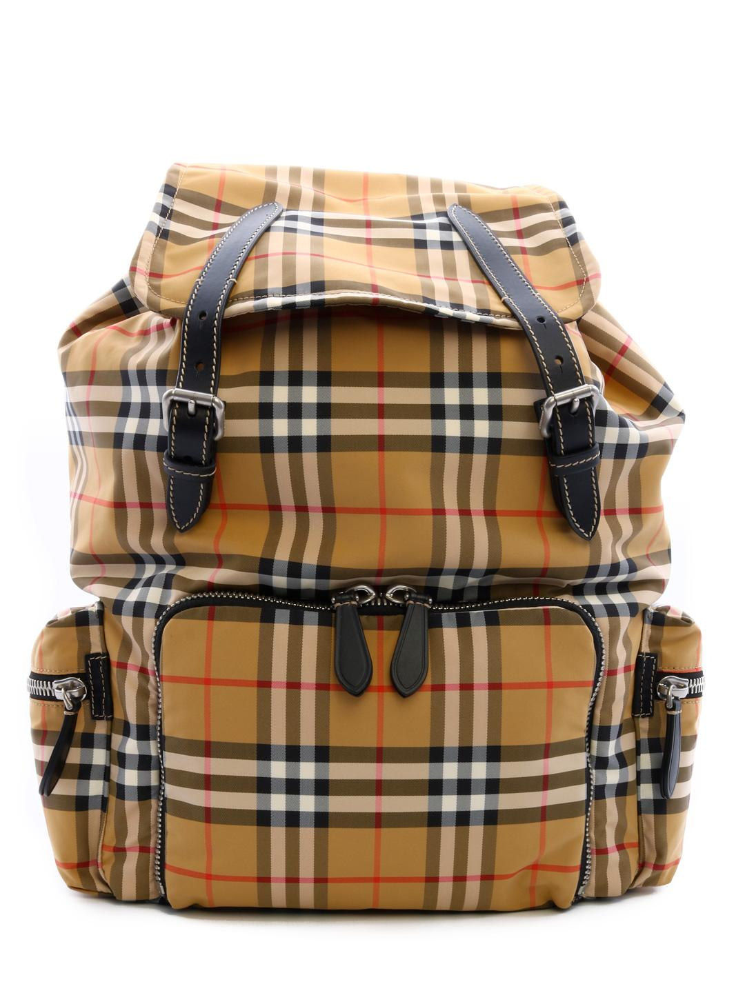33ae555c8cd1 Burberry - Natural The Large Vintage Check Rucksack for Men - Lyst. View  fullscreen