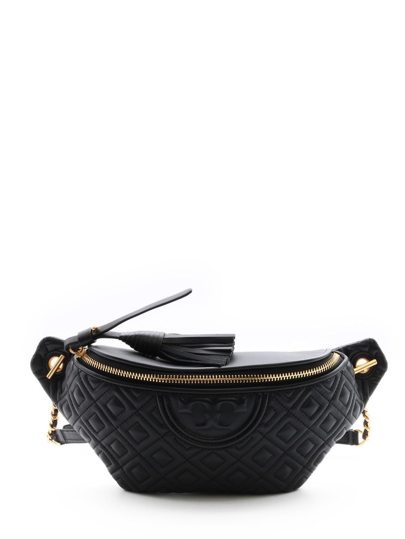 ac0e4cb8e034 Lyst - Tory Burch Fleming Belt Bag Black in Black