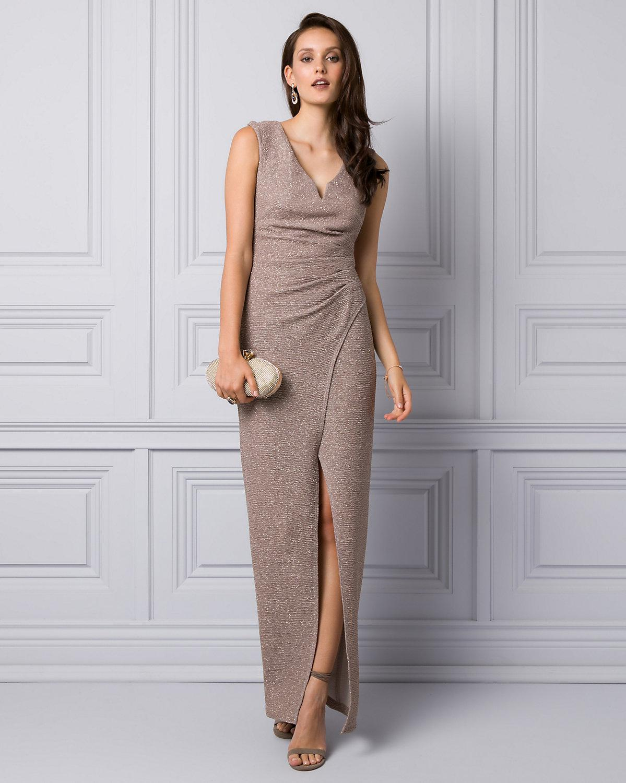 Le Chateau. Women s Sparkle Knit V-neck Gown b8b553568