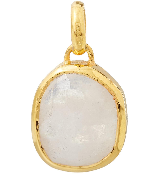 Gold Mini Siren Bezel Pendant Moonstone Monica Vinader B88hg