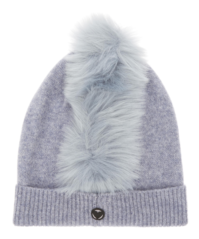fcbf938444d Charlotte Simone Mo Mohawk Faux Fur Cashmere Beanie Hat in Blue - Lyst
