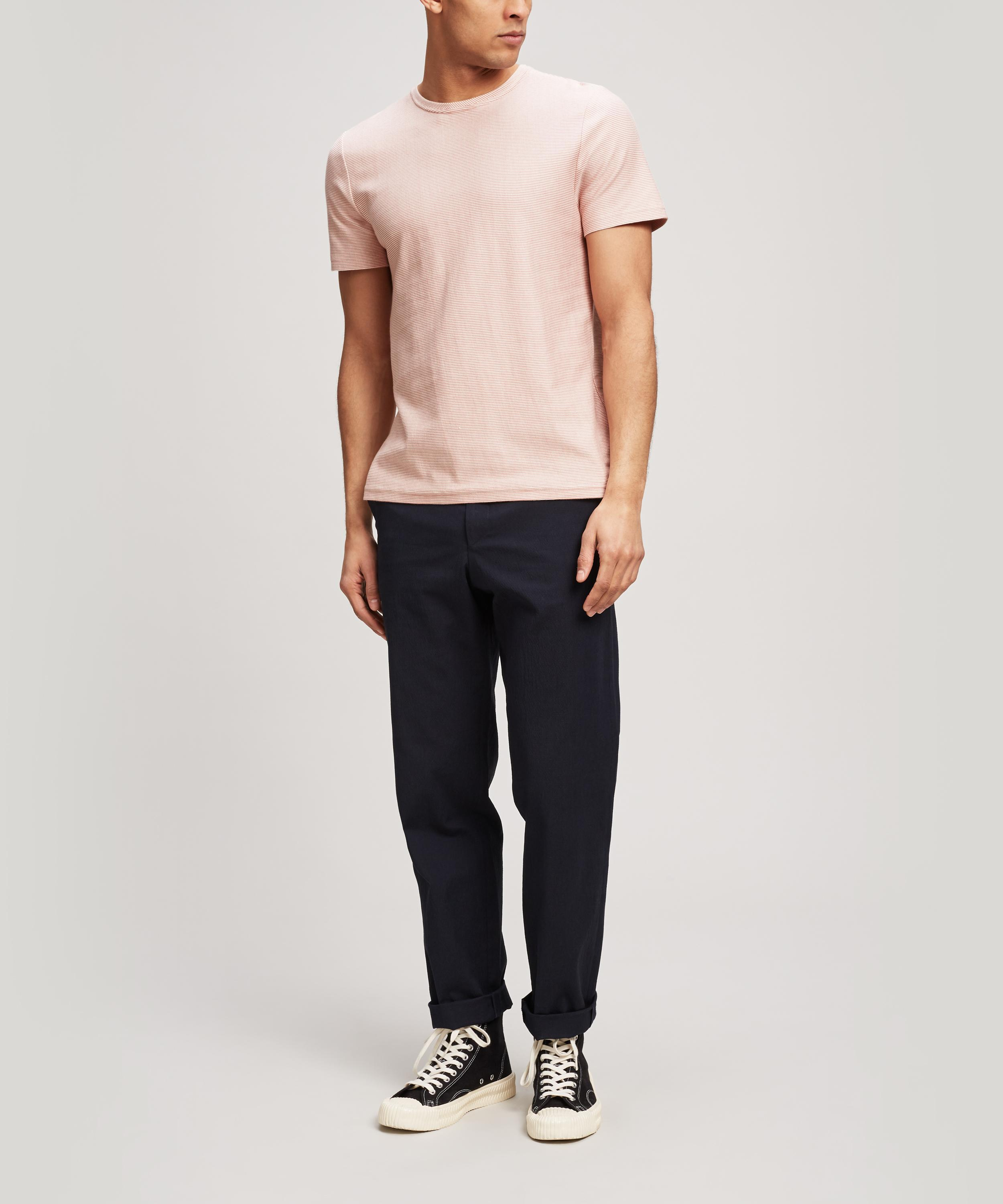 Oliver Spencer Conduit Micro Stripe T-shirt in Pink for Men