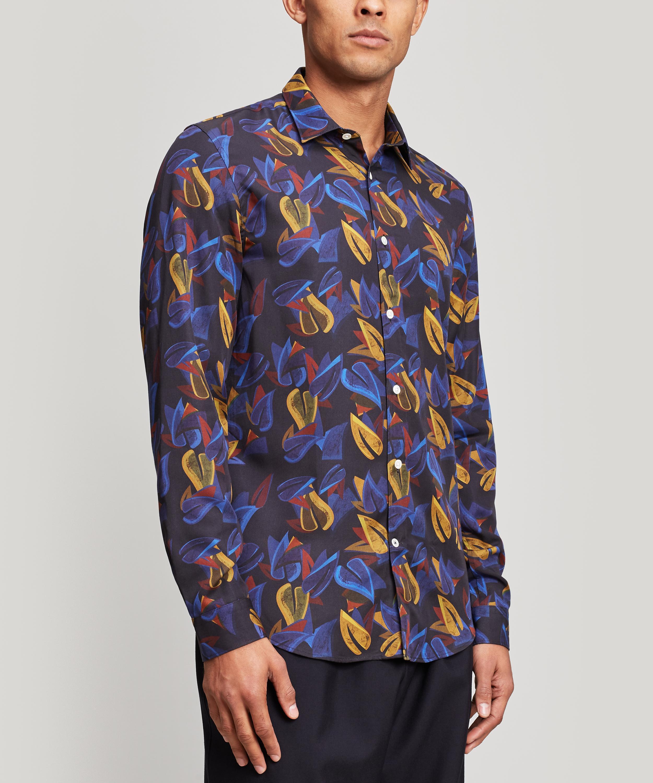 Lyst - NN07 Morgan Printed Shirt in Blue for Men 0543522bafe23