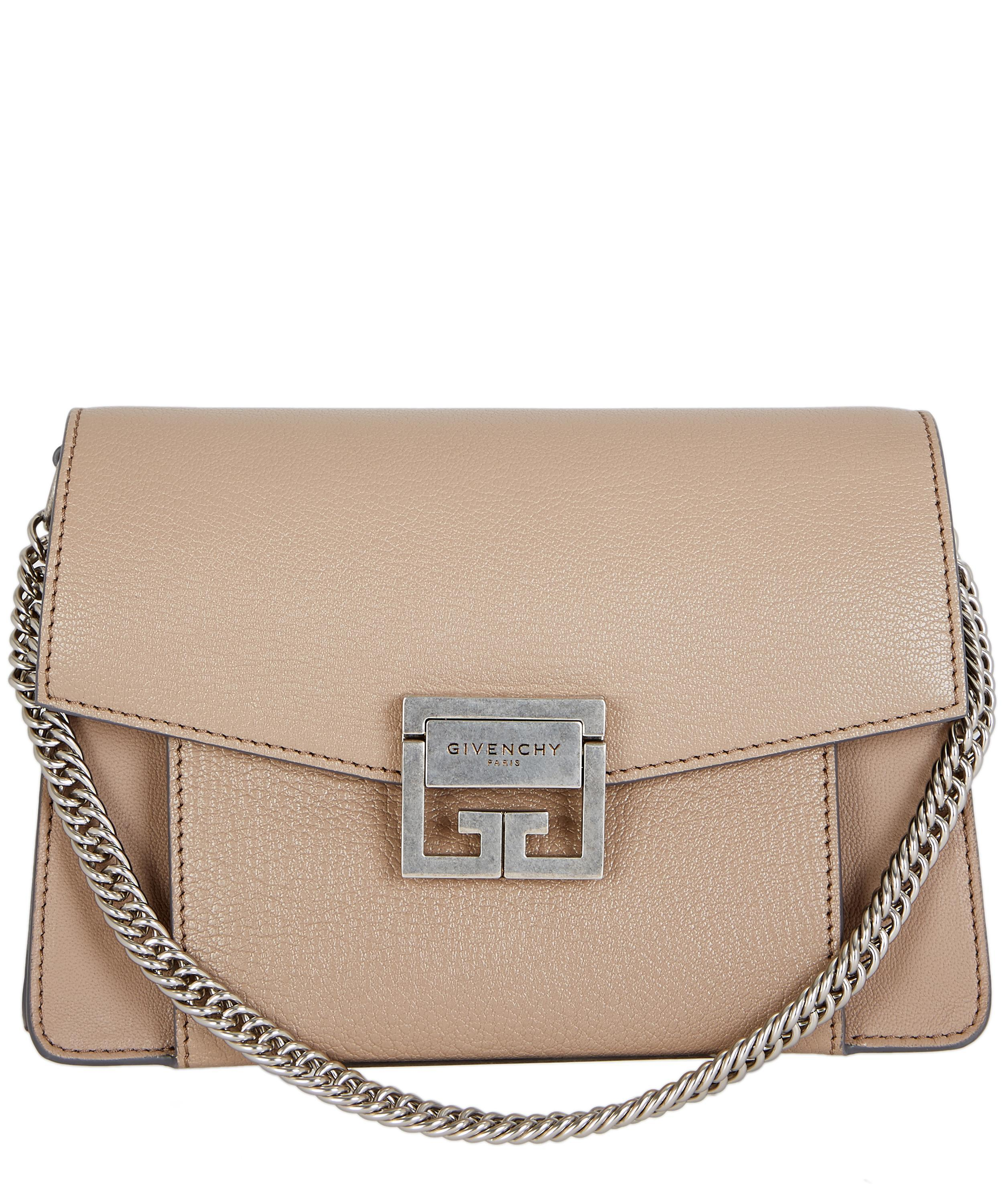 21f18fd8ea Givenchy Small Gv3 Goat Leather Cross-body Bag in Natural - Lyst