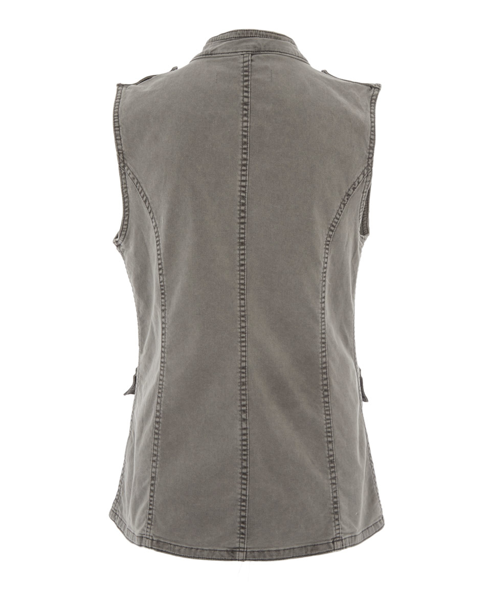 Lyst - J Brand Mid Grey Astrid Sleeveless Utility Jacket in Gray
