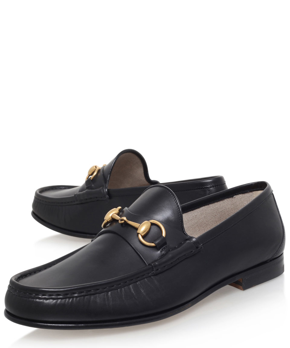 lyst gucci leather horsebit loafers for men. Black Bedroom Furniture Sets. Home Design Ideas