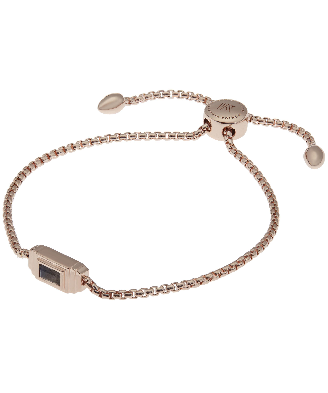 Rose Gold Baja Facet Bracelet Labradorite Monica Vinader QDhdm