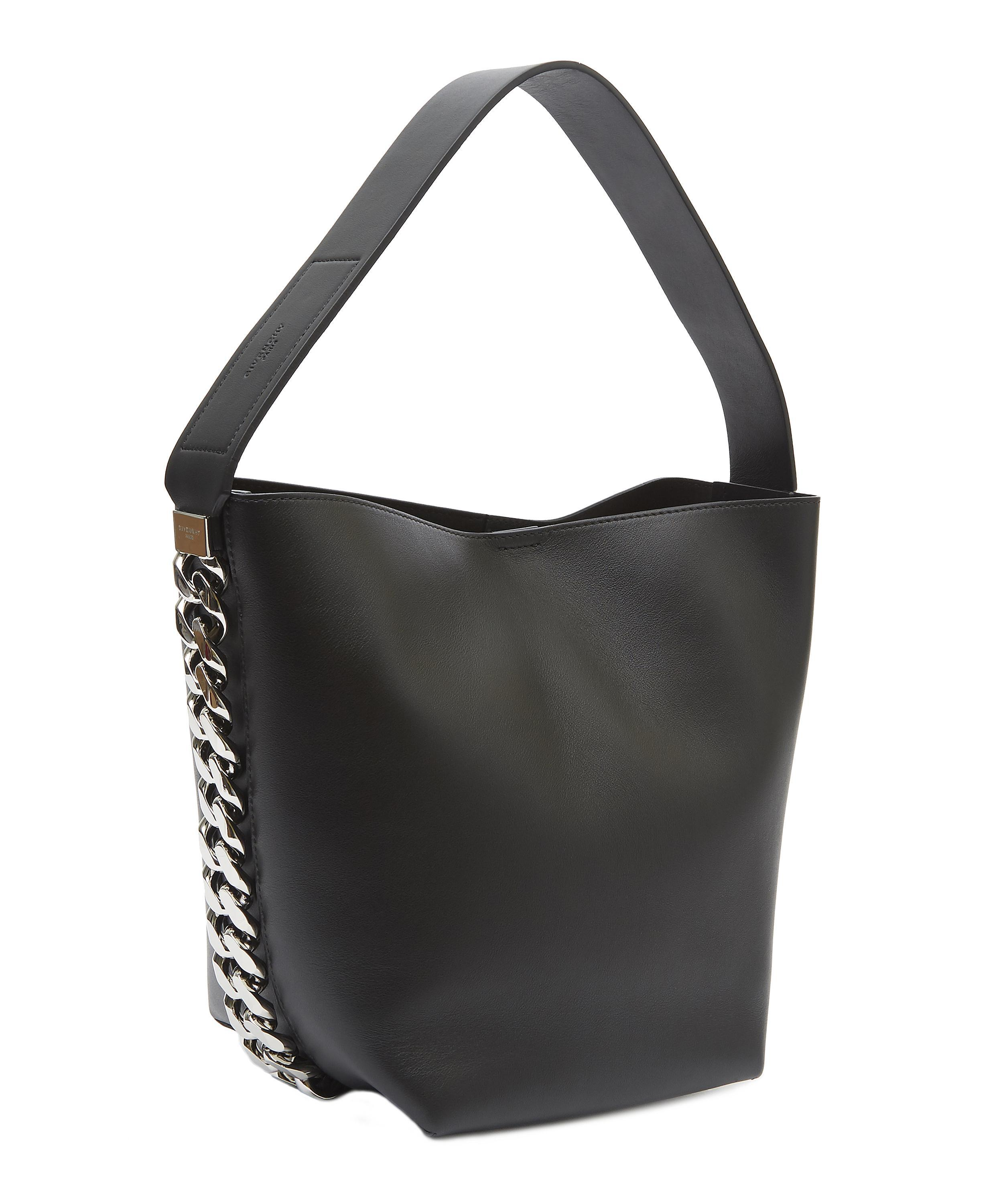 Lyst - Givenchy Infinity Chain Calf Leather Bucket Bag in Black f3fc02dc8b846
