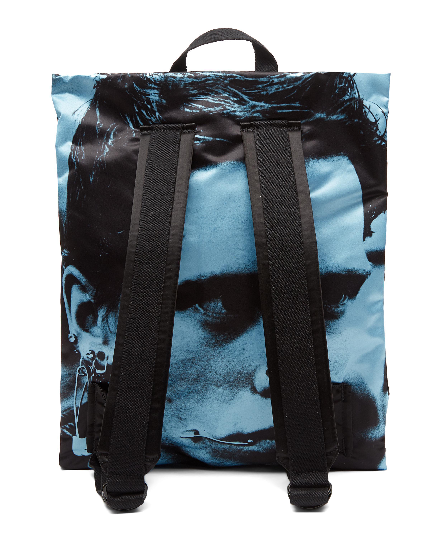 Lyst - Eastpak Raf Simons Poster Padded Satin Boy Backpack in Blue ...