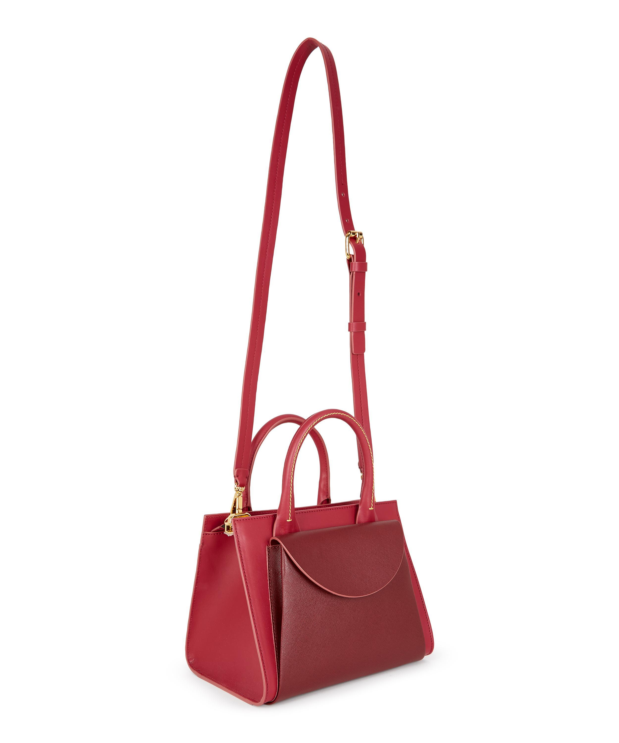 6c69ec4d5b14 Lyst - Marni Law Leather Shoulder Bag in Red