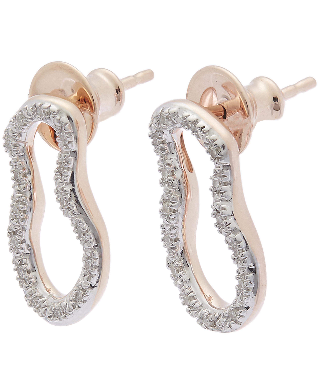 Gold Riva Pod Stud Earrings Diamond Monica Vinader tUvJfqmQ
