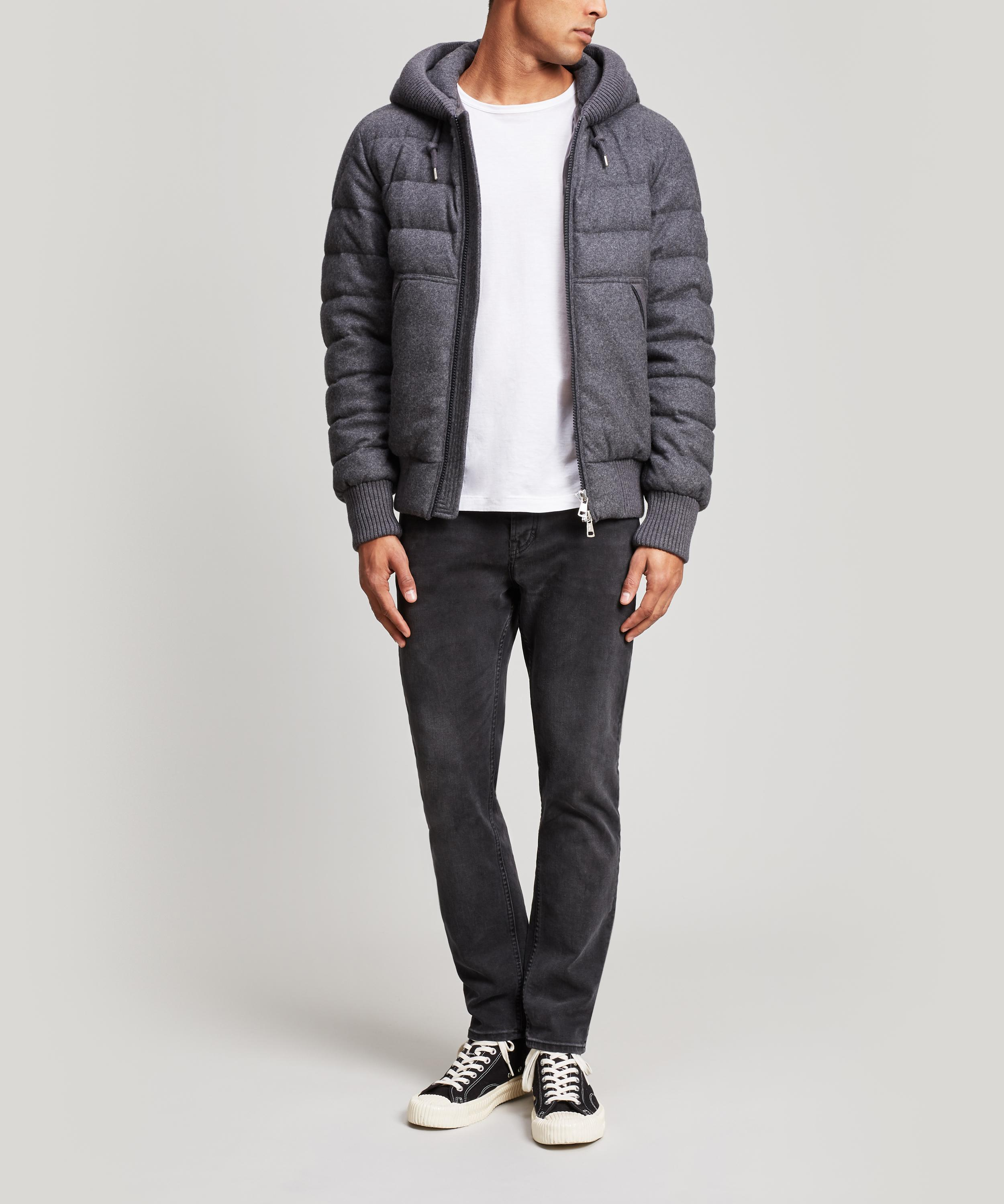 4f643cfb4 Lyst - Moncler Renoir Quilted Wool And Cashmere-blend Jacket in Gray ...