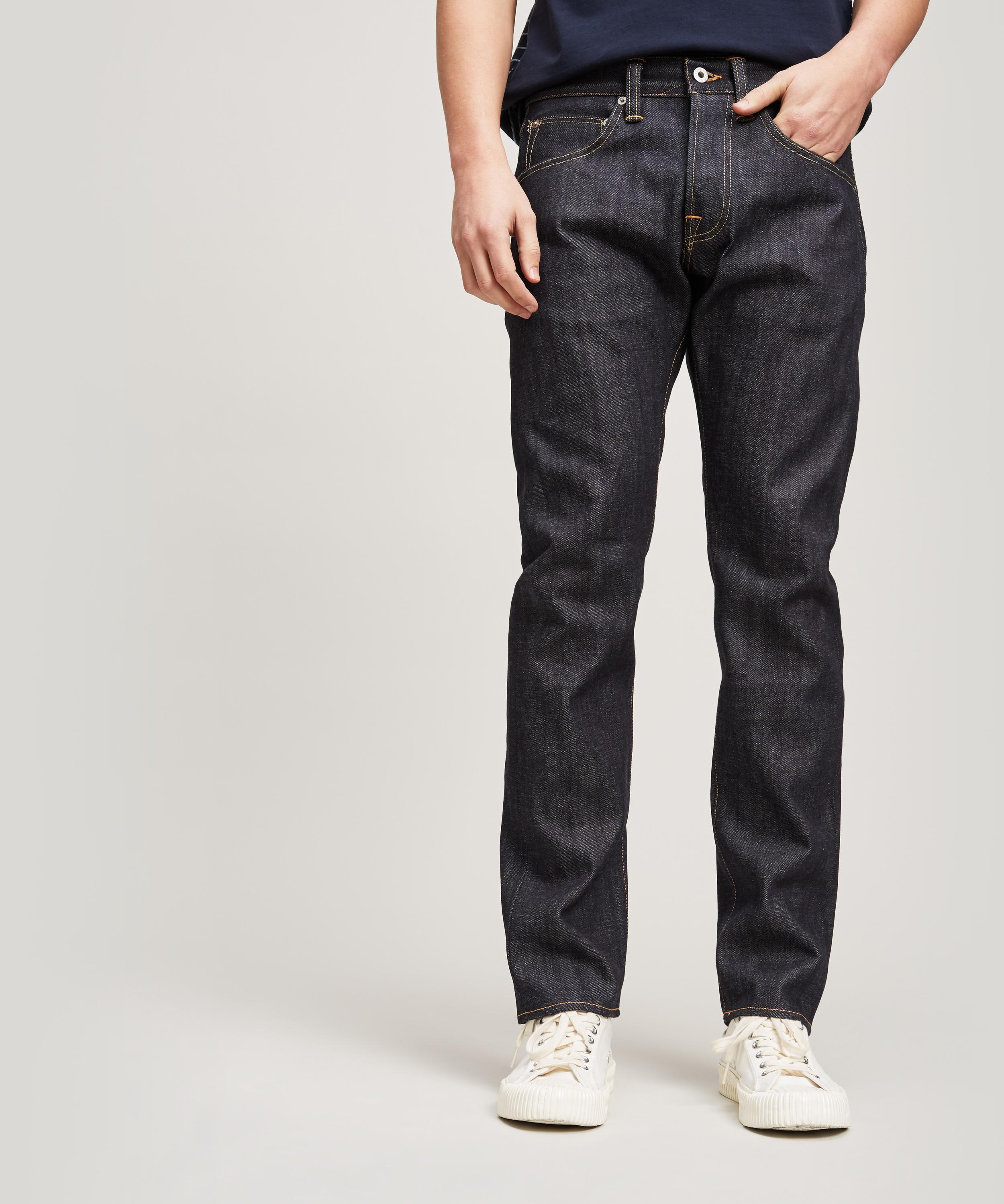 91378473 Edwin Ed55 Red Selvedge Unwashed Jeans in Blue for Men - Lyst
