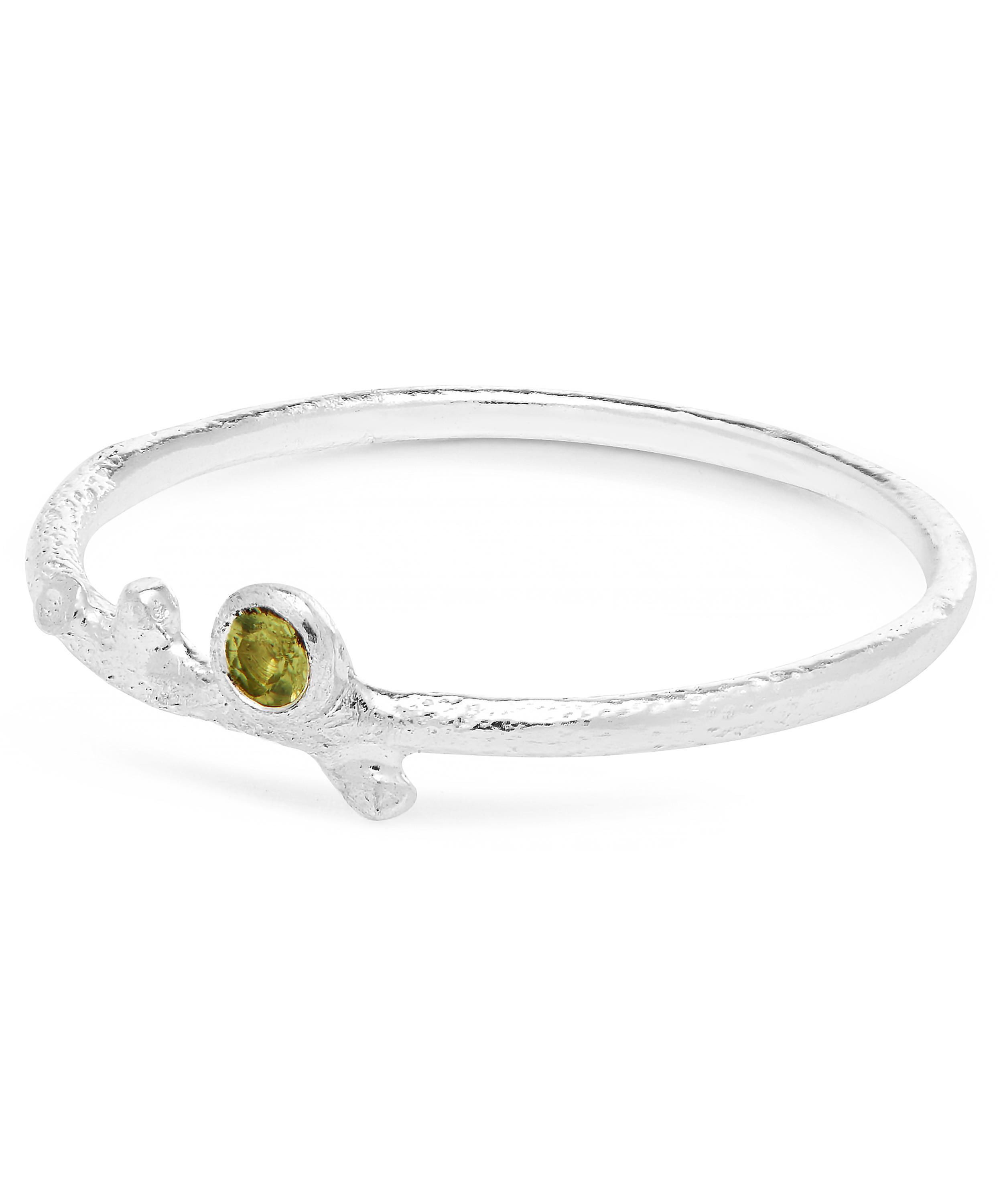 dced436f9 Lyst - Alex Monroe Silver Underwater Peridot Stacking Ring in Metallic