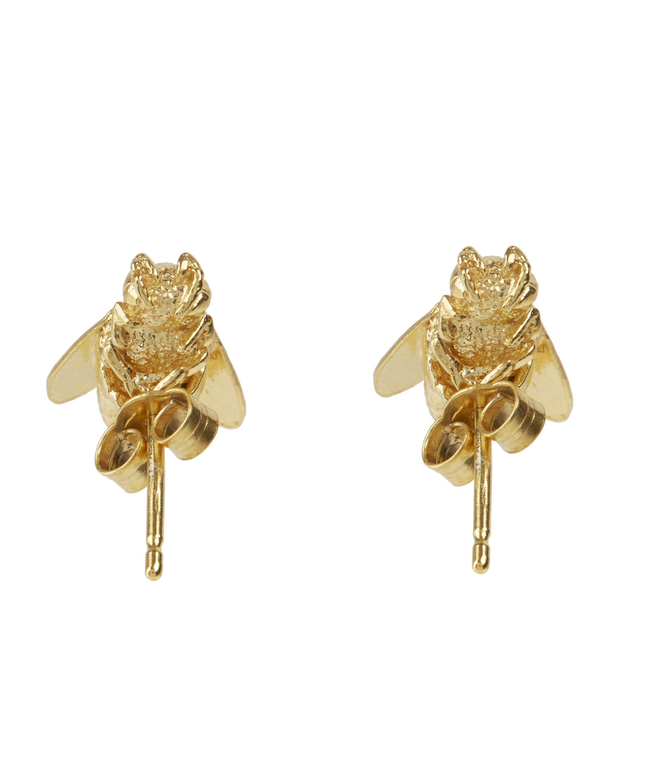 stud montana myel retouch single gold design sapphire with earring mini products green bee in yellow