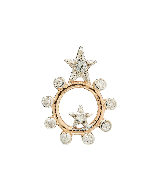 Kismet by Milka Eclectic Star Circle Earring with Diamonds DjAj0X1k