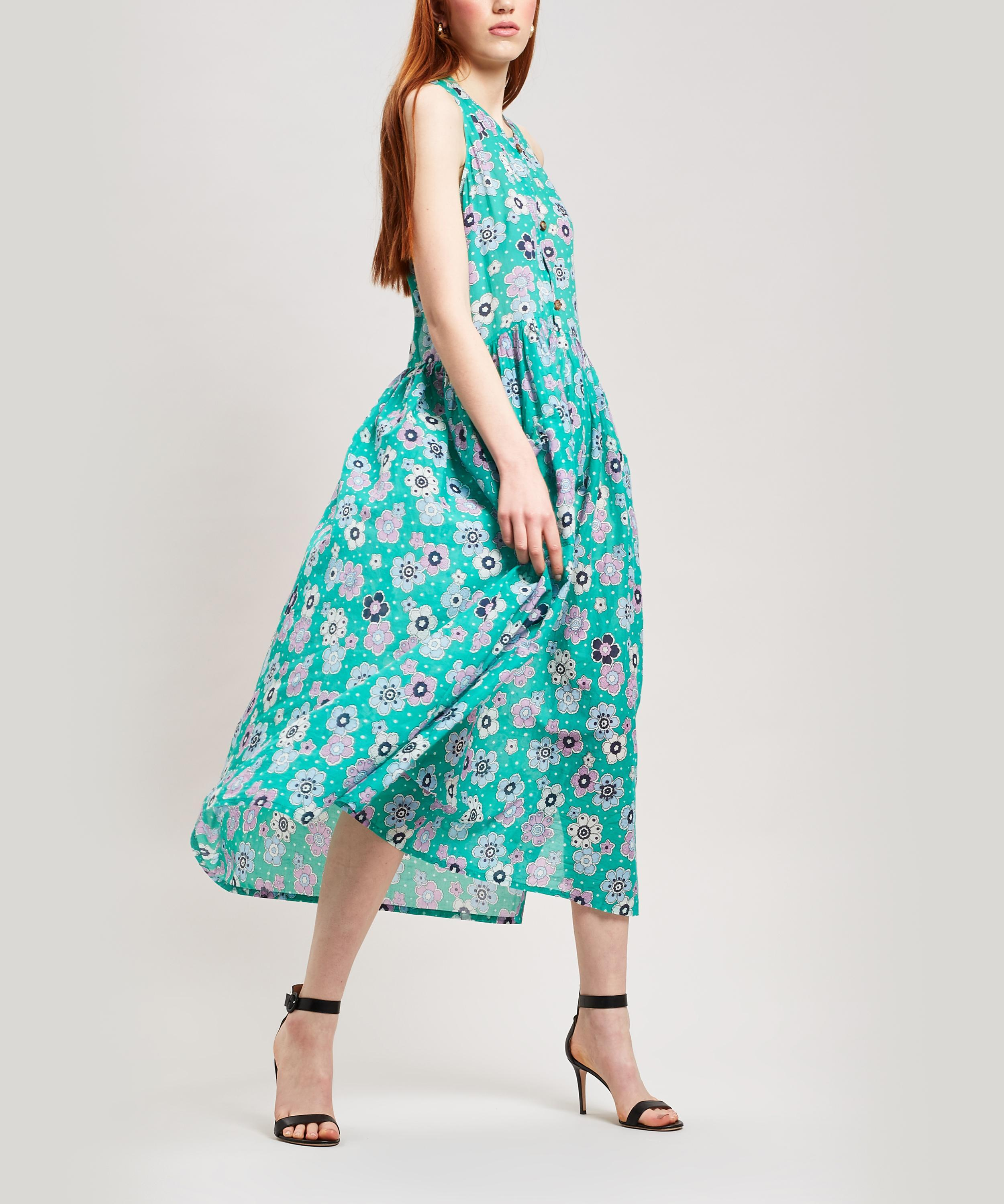 7667b958848 Lyst - M.i.h Jeans Leia Floral Cotton Trapeze Maxi-dress in Blue