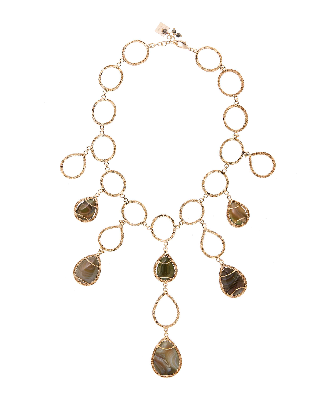 Rosantica Scarabeo teardrop stone necklace jOmpaWZEs